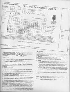 CB Radio Licence