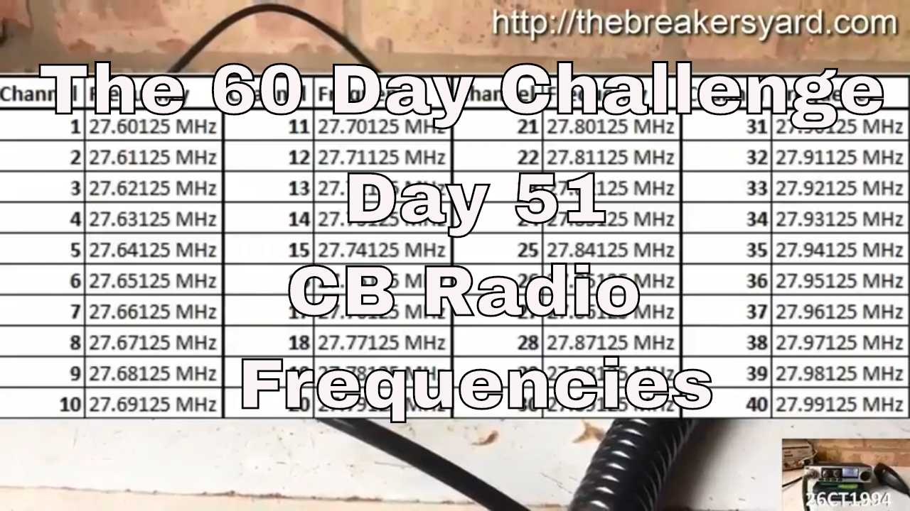 40 Channel Cb Frequency Chart : What are the cb radio frequencies breakers yard